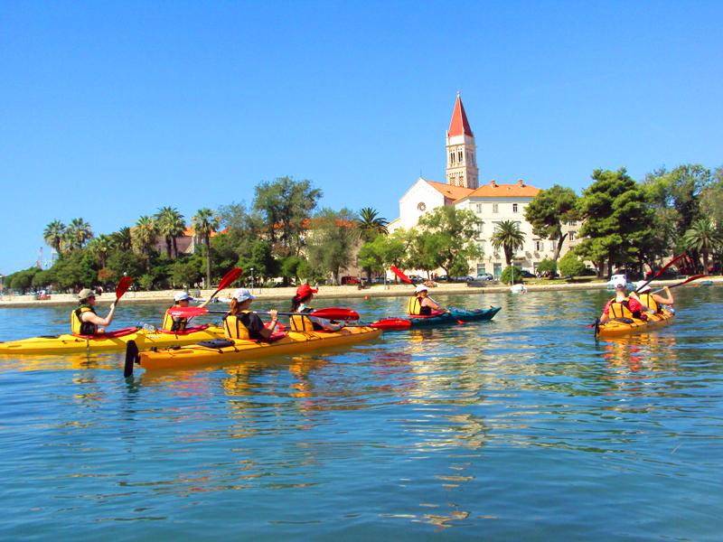 kayaking trogir